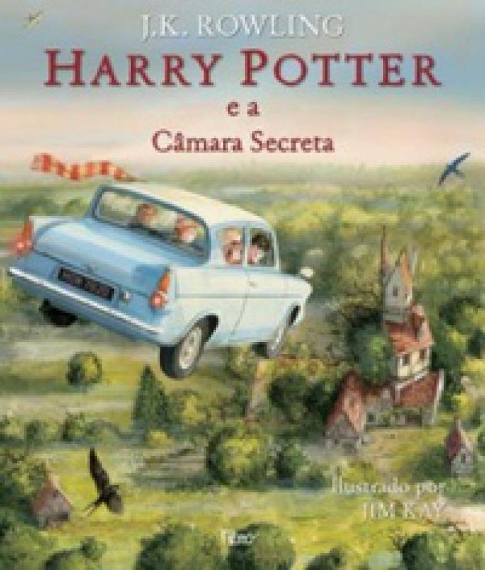 Capa de Harry Potter e a câmara secreta - J. K. Rowling