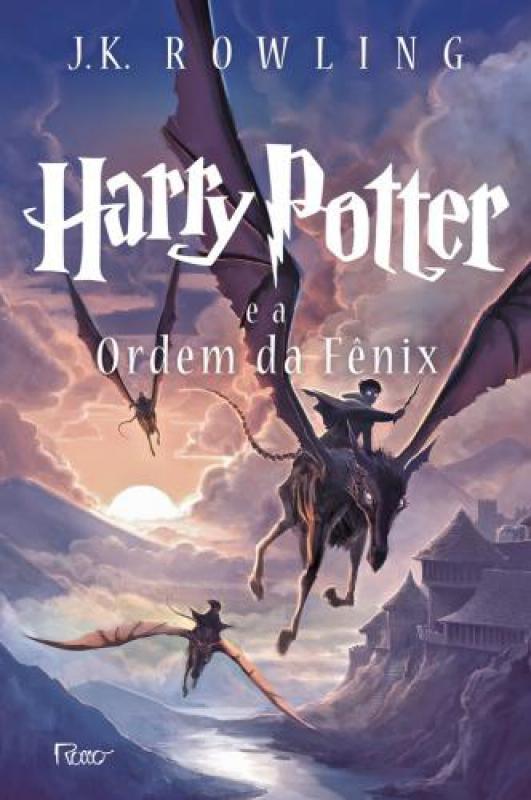Capa de Harry Potter e a ordem da fênix - J. K. Rowling