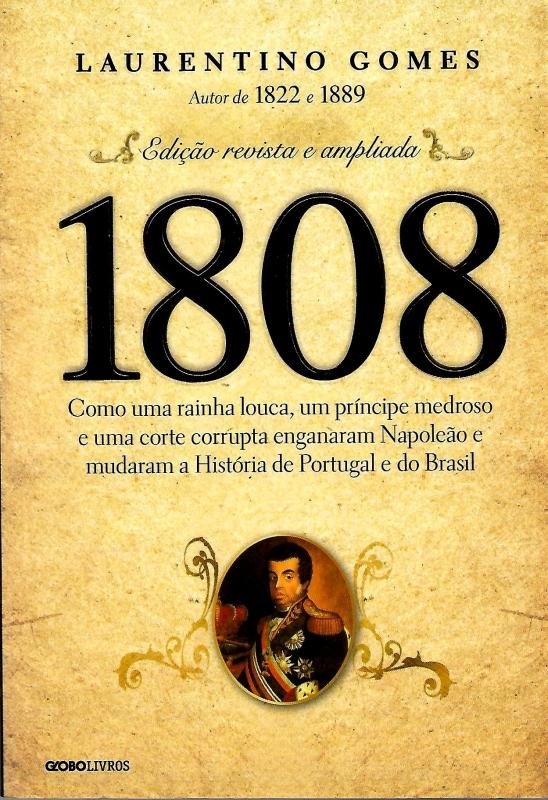 Capa de 1808 - Laurentino Gomes