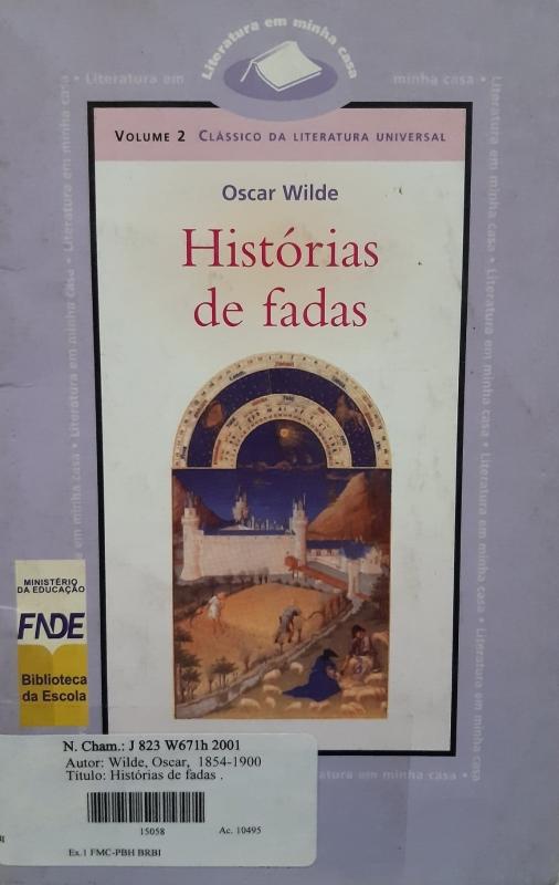 Capa de Histórias de fadas - Oscar Wilde