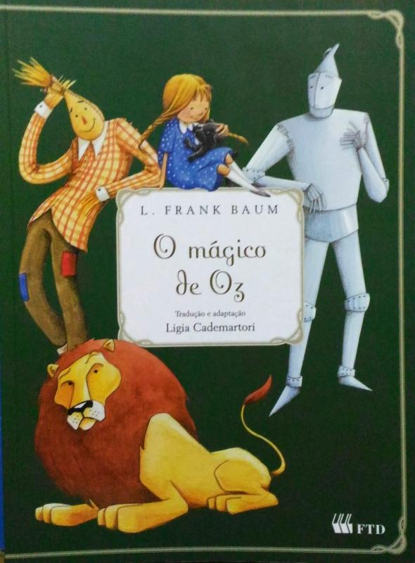 Capa de O mágico de Oz - Lyman Frank Baum