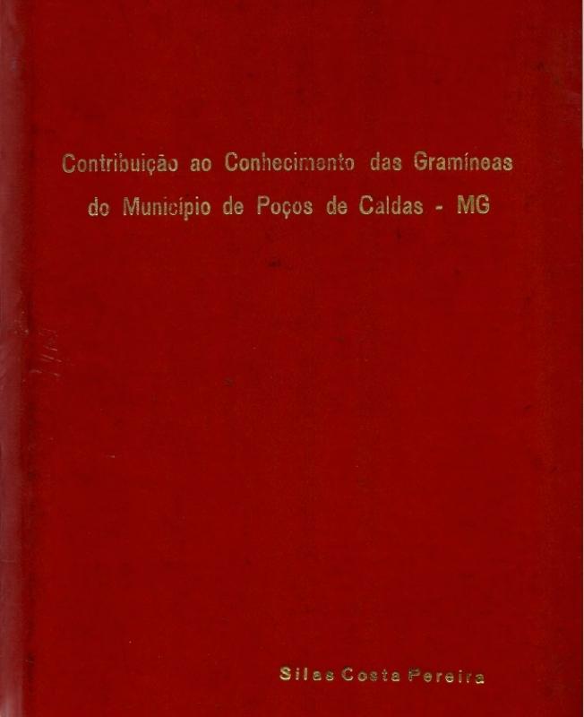 Capa de Contribuição ao conhecimento das gramíneas do município de Poços de Caldas-MG - Silas Costa Pereira