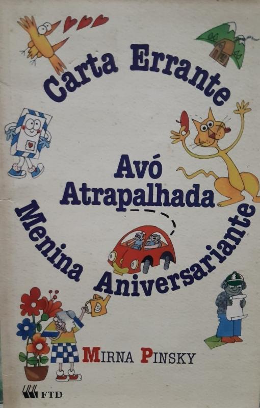 Capa de Carta errante, avó atrapalhada, menina aniversariante - Mirna Pinsky