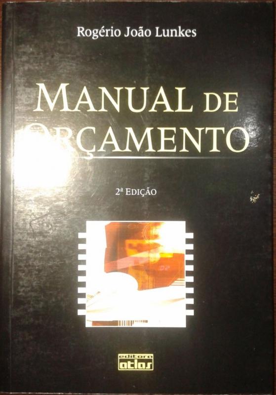 Capa de Manual de orçamento - Rogério João Lunkes