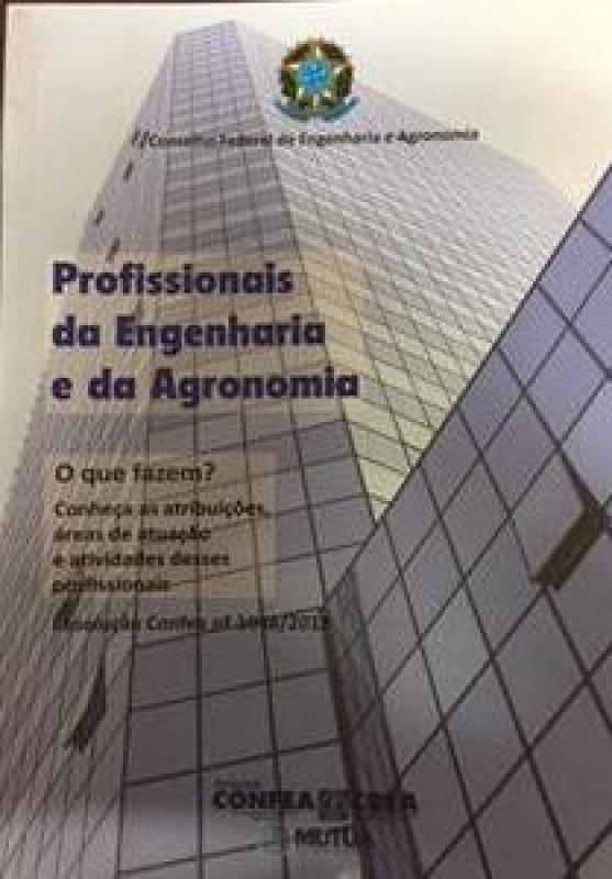 Capa de Profissionais da Engenharia e da Agronomia - Conselho Federal de Engenharia e Agronomia