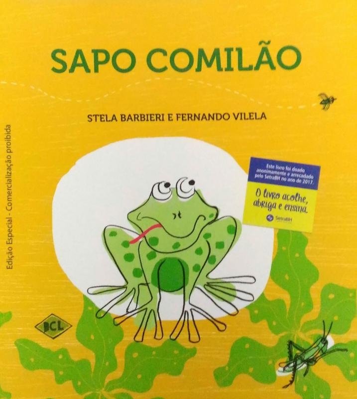 Capa de Sapo Comilão - Stela Barbieri