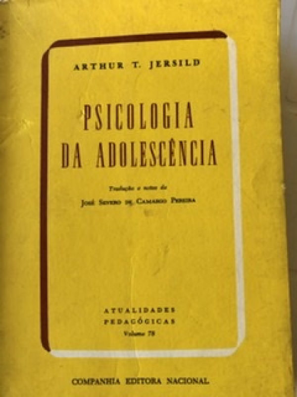 Capa de Psicologia da Adolescência - Arthur Severo de Camargo Pereira