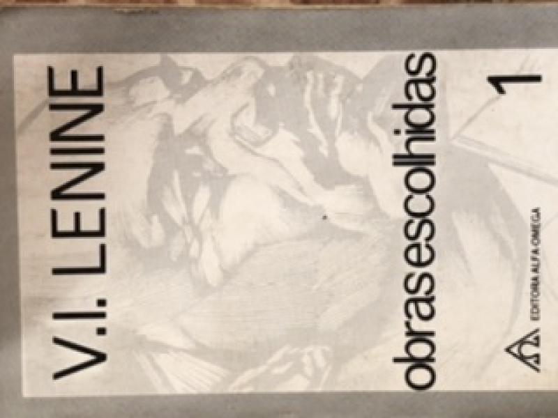 Capa de Obras escolhidas, V.I. Lenine volume 1 - V.I.Lenine