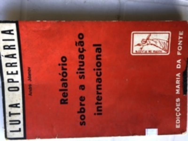 Capa de Relatório sobre a situação internacional - André Jdanov